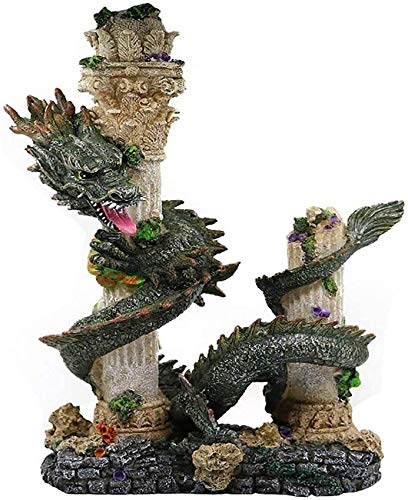 Decoraciones de peceras Decoraciones de peceras Plantas de decoración de acuarios Decoraciones de acuarios Resina Antigua Adorno de Acuario de dragón Chino, Adornos de Paisaje de peceras Acc
