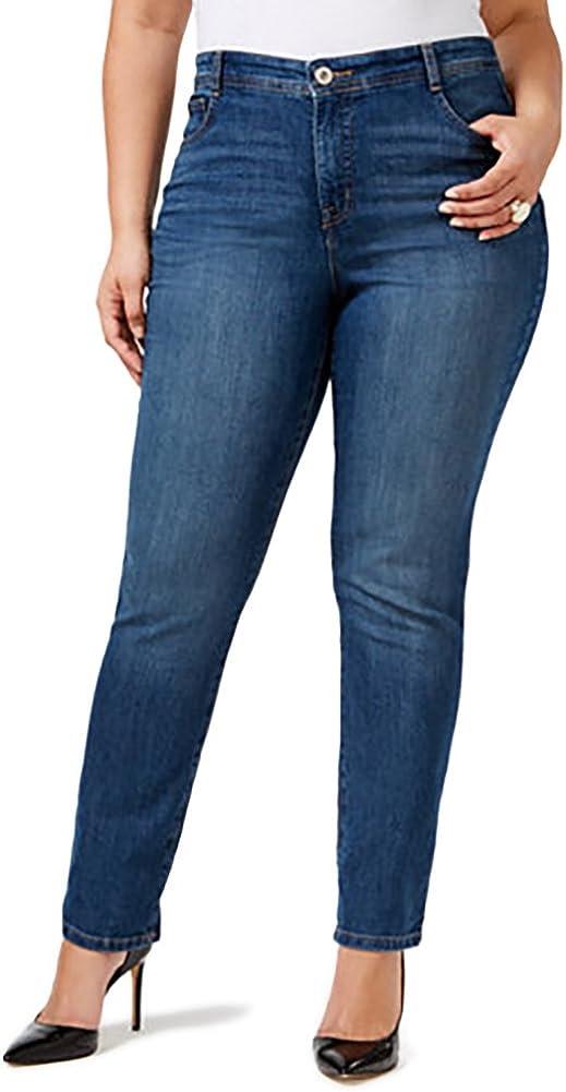 Style & Co. Plus Size Tummy Control Slim-Leg Jeans (22WP)
