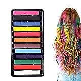 AIUIN Hair Crayon12 colores Set de lápices de colores temporales Pinzas para el cabello lavables y...