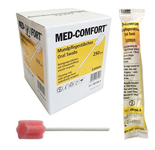 Mundpflegestäbchen Wattestäbchen Geschmack Lemon Box a 250 Stck Mundhygiene Tiga-Med einzeln hygienisch verpackt