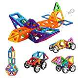 bybot 60 pièces blocs de construction magnétique jeux construction aimanté jeu magnétique jouet de construction