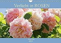 Verliebt in Rosen (Wandkalender 2022 DIN A4 quer): Wunderschoenen Rosen in ihre Gesichter geschaut (Monatskalender, 14 Seiten )