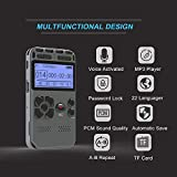 COODIO Digital Voice Recorder Audio Recording Dictaphone MP3 LED Display Voice Activated 8GB