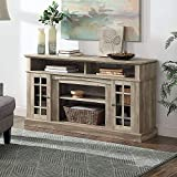 BELLEZE Traditional Rustic Wood TV Stand & Media Entertainment Center Console Table for TVs up to 65 Inches with Open Storage Shelves & Cabinets – Astorga (Ashland Pine)