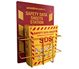 Bilingual Right to Know SDS Center Wire Rack and 3' Binder with Updated GHS Pictograms