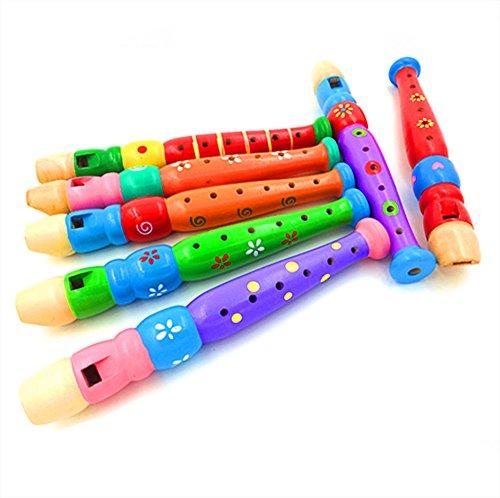 AIUIN Baby Kinder Musikalische pädagogische Spielwaren Frühe Kinder Piccolo Flöte Musikinstrument 1ST Zufällige Farben