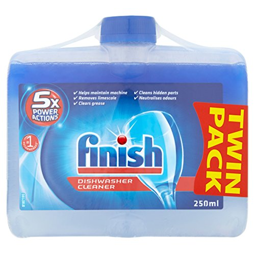 Finish Dishwasher Cleaner Twin Pack, ORIGINAL, Pack of 2, 2 x 250 ml