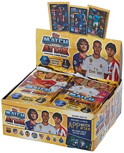 Topps Match Attax Champions League 2019/2020 - 30 Booster im Display,6 Karten pro Booster
