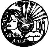 Instant Karma Clocks - Reloj de Pared para salón o Belleza, para Mujer, Maquillaje artístico, Vintage, silencioso