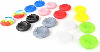 TNP 9 Pairs Thumbstick Joystick Rubber Grip Cap Cover Case Gampad Thumb stick Replacement Parts for Sony Playstation 4 PS4 PS2 PS3 XBOX 360 / One Wii U Controller 9 Colors [Playstation 4]