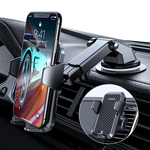 günstig VANMASS Cell Phone Holder 3in1 Car Cell Phone Holder Car Cell Phone Holder Vent Mount and 100% Silicon Protected Sucker Smartphone Holder for iPhone Samsung Huawei Mate LG (Updated Version)