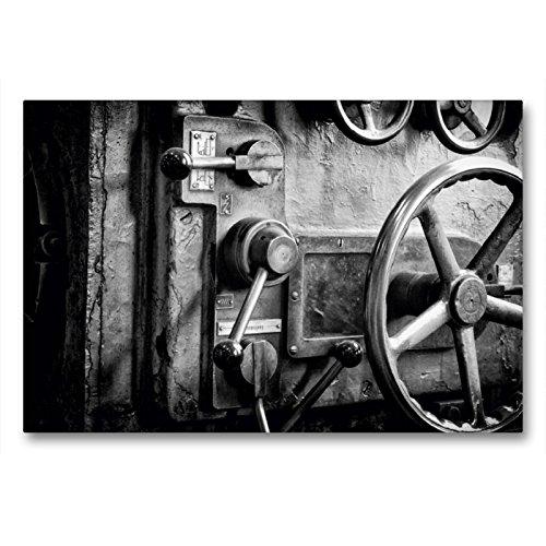 Premium Textil-Leinwand 90 x 60 cm Quer-Format Drehbank | Wandbild, HD-Bild auf Keilrahmen, Fertigbild auf hochwertigem Vlies, Leinwanddruck von Gerhard Bomhoff