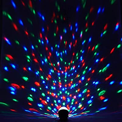 LEVIPOWER Super Beautiful LED RGB Crystal Magic Effect Ball light DMX Disco DJ Stage Lighting Play and Plug