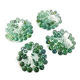 OMVOVSO Canicas de Vidrio Color Mezclado, Marbless Piedras de Cristal de Colores murmullo Murmel para mesas de Juego de Arcade Deco Perlas de Vidrio Colorido decoración Vegetal,Azul