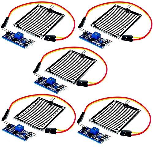 AZDelivery 5 x Regentropfen Regen Sensor Modul für Arduino mit gratis eBook!