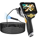 Borescope Inspection Camera, LONEVO Upgraded 1080P HD Detachable & Waterproof Endoscope Camera Snake Camera with 4.3' LCD Screen, 6 Bright LED Lights, 16.5FT Cable, for Car/Sewer/Drain/Home