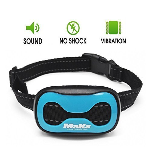 MaKa Training Collar for Small and Medium Sized Dogs- Humane, Safe, No-Shock Anti-Bark Collar