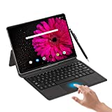 Tablet 10.8 Inch Android 10.0, 6GB RAM+128GB /512GB ROM 10-core 2.3Ghz Tablets, 5G WiFi Dual SIM 4G LTE 16MP 16:10 FHD+ Computer Tablets with Keyboard & Tablets Case,8000mAh,Type C/GPS/OTG (Black)