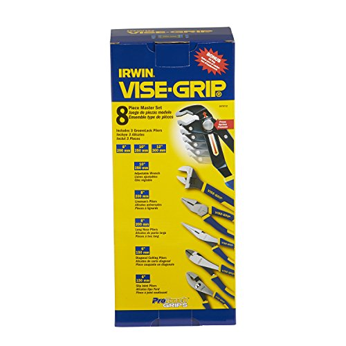IRWIN VISE-GRIP GrooveLock Pliers Set, 8-Piece (2078712)