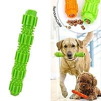 3枚 ペットの犬のおもちゃ TPR咬傷耐性食品モルスティック パズルトレーニングバイトおもちゃ スナック犬のおもちゃをかむことができます 中小品種向け Green M