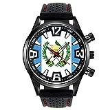 Timest - Bandera de Guatemala - Reloj para Hombre con Correa de Silicona SF093