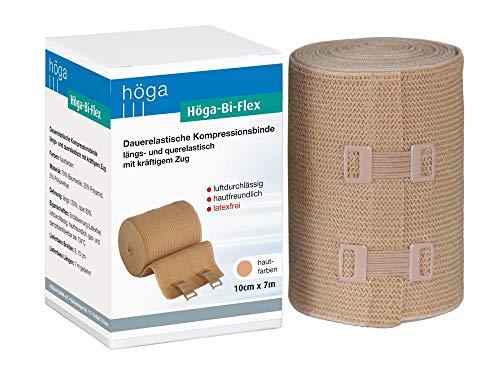 Höga Bi-Flex Sportbinde,dauerelastische Kompressionsbinde längs- und quer elastisch - 10 cm x 7 m gedehnt
