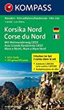 Korsika Nord - Corse du Nord - Weitwanderweg GR20: Wanderkarten-Set mit Aktiv Guide. GPS-genau. 1:50000: Wandelkaart 1:50 000 (KOMPASS-Wanderkarten, Band 2250)
