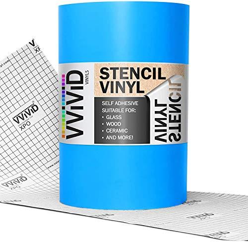 "VViViD Blue Low-Tack Adhesive Vinyl Stencil Masking Film Roll (12"" x 6ft)"