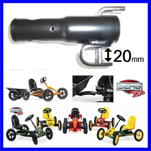 Berg Toys Anhängerkupplung Junior 50.00.00.03 Zubehör passend zu Modell Buddy Junior, white , rot, orange, black, ADAC, Jeep, John Deere