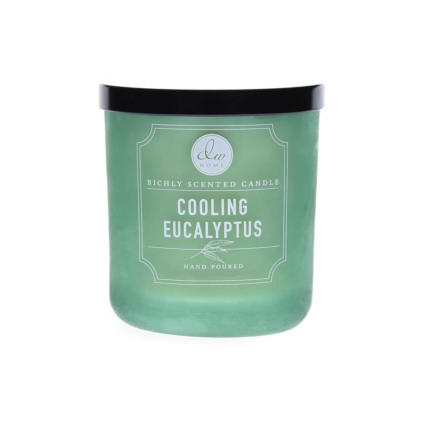 農奴ギャロップ疑問を超えてDWホーム冷却ユーカリ豊かな香りCandle Small Single Wick Hand Poure。。。