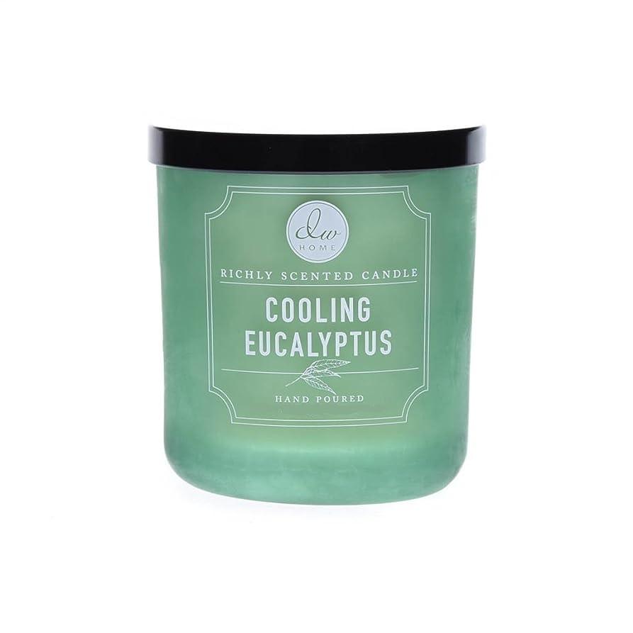乱す不定不誠実DWホーム冷却ユーカリ豊かな香りCandle Small Single Wick Hand Poure。。。