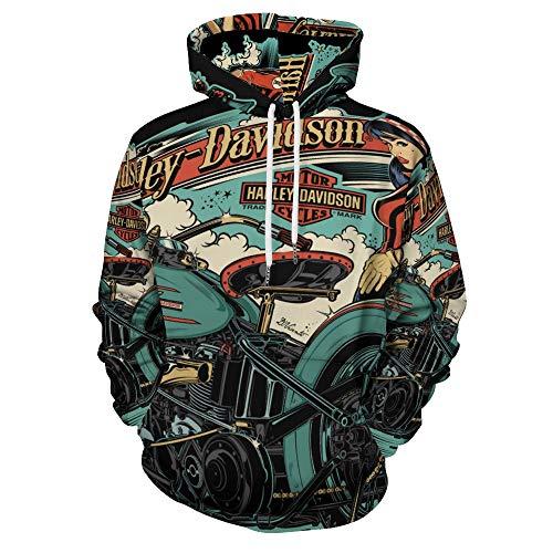 Harley Davidson Shirt Mens Anime Felpa Con Cappuccio 3D Stampato Viso Palestra Camicia Vestiti Comfy Abbigliamento Vestito Home Top bianco-Style1 XL