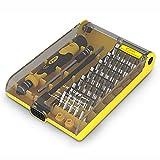 LGQ Juego de Destornilladores de precisión 45 en 1 con Herramienta de reparación de Puntas de Destornillador magnético para electrónica, electrodomésticos, Manualidades y proyectos de Bricolaje