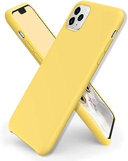 ORNARTO Compatibel met iPhone 11 Pro Max siliconen hoes, ultradunne vloeibare siliconen telefoonhoes, bescherming voor iPh...