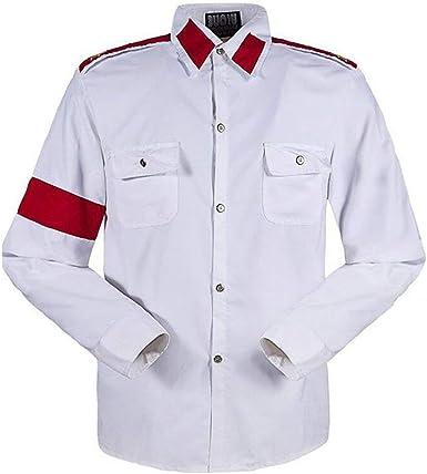 Camisa para Hombre Michael Jackso Camisa para niños Professional Cosplay Michael Jackso Camisa Estilo CTE para Fans Camisa Blanca en Colores Rojos