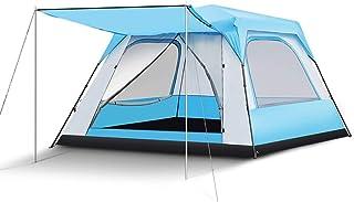 IDWOI-tält stor 5-8 personer campingtält automatisk pop up 4 årstider regn vikbar bärbar plats familjetält, 2 färger BLÅ