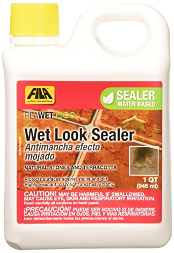 FILA WET ECO Paver Sealer Wet Look, Seals indoor and outdoor unpolished natural stone and terracotta, 1 QT