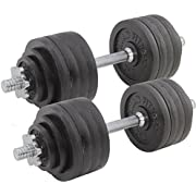 Titan Fitness Pair Adjustable Cast Iron Dumbbells Weight 105lb Total Training