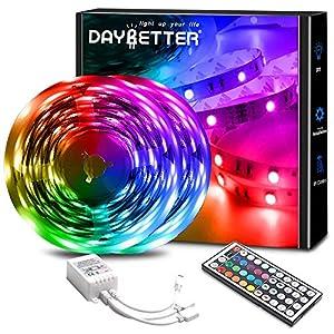 DAYBETTER Led Lights 32.8ft Color Changing Lights Strips for Bedroom, Ceiling, Home Decoration