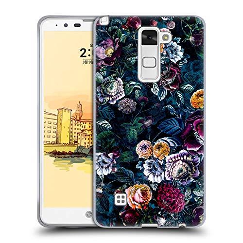 Head Hülle Designs Offizielle Riza Peker Dunkel Blume Nacht Blumig Soft Gel Handyhülle Hülle Huelle kompatibel mit LG Stylus 2