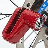QHJ Seguridad Anti Robo Heavy Duty Motocicleta Moto Motocicleta Scooter Disco Rotor Lock H Bicicleta Bicicleta Bicicleta Bicicleta Mujeres Hombres Accesorios Bicicleta Kit Accesorios, rojo, as show
