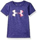 Under Armour Girls' Big Logo T-Shirt, Gray/Heather, 5
