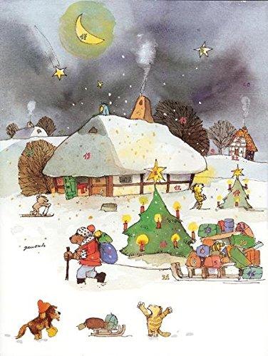 Janoschs Adventskalender Weihnachtsschlitten