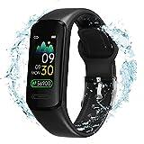 Fitness Tracker Heart Rate Smart Touch Screen Activity Tracker with Body Temperature Blood Pressure Sleep Health Monitor, Waterproof Smart Bracelet, Pedometer Watch for Women Men Teens