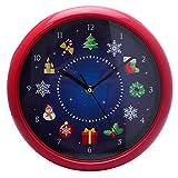 PMS Reloj de Pared en Caja de Color, Rojo, Pack de 1