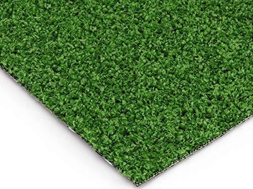 Balkon-Rasen Kunstrasen im Festmaß - WIMBLEDON, 4,00m x 1,50m, 7mm Höhe, Wasserdurchlässiger Outdoor Bodenbelag, Rasen-Teppich