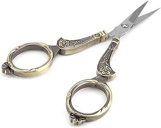 Mini tesoura de costura vintage, tesoura de costura clássica de aço inoxidável, para artesanato de bordado para arte de co...