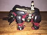 TOMY 旧ゾイド 第1期 ブラックライモス ジャンク 重装甲小型機械獣EHI-2 BLACKRHIMOS サイ型 ゼネバス帝国軍 1987年頃の玩具。