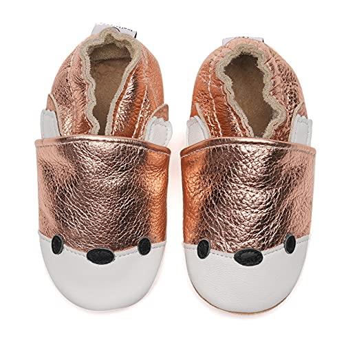 Zapatos para bebé para aprender a andar, de piel suave, suela de ante antideslizante, color, talla 0-6 meses