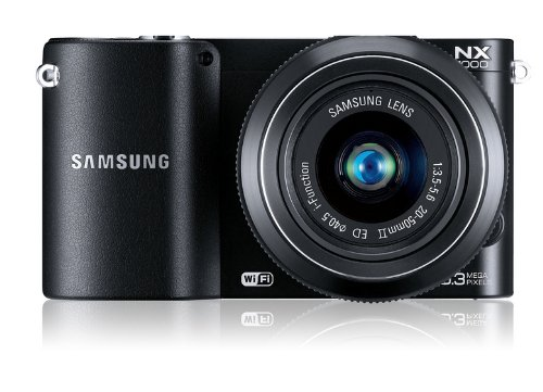 Samsung NX1100 Systemkamera (20,3 Megapixel, 7,6 cm (3 Zoll) LCD-Display, Aufsteckblitz, HDMI, WiFi, USB 2.0) inkl. 20-50 mm i-Function Objektiv schwarz